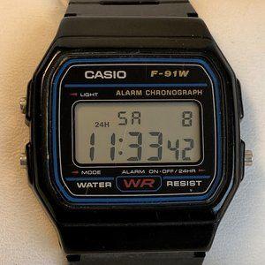 Retro Casio Digital Watch F-91W New Battery